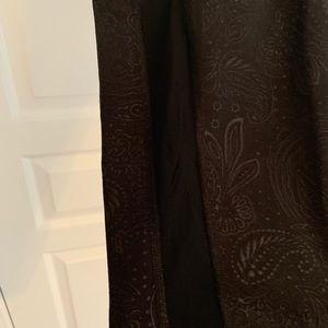 Old Navy black patterned compression leggings XXL